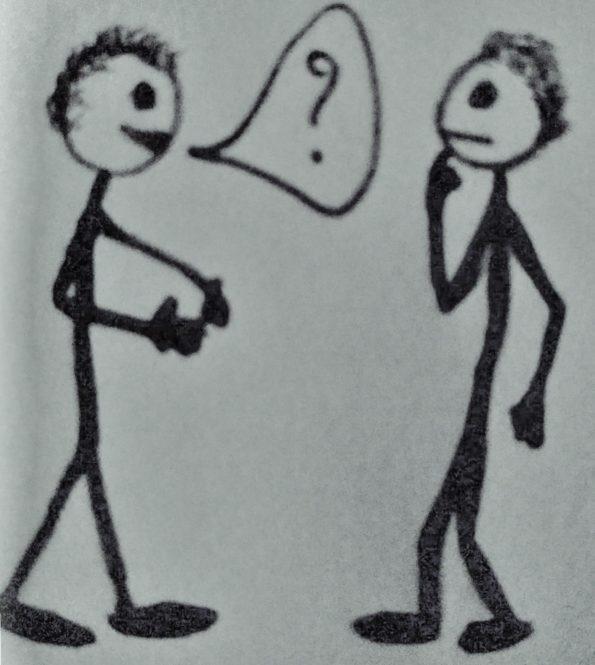 Deux hommes se rencontrent