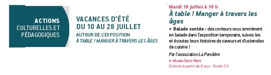 Annonce musée st Rémi 18 juillet 2017